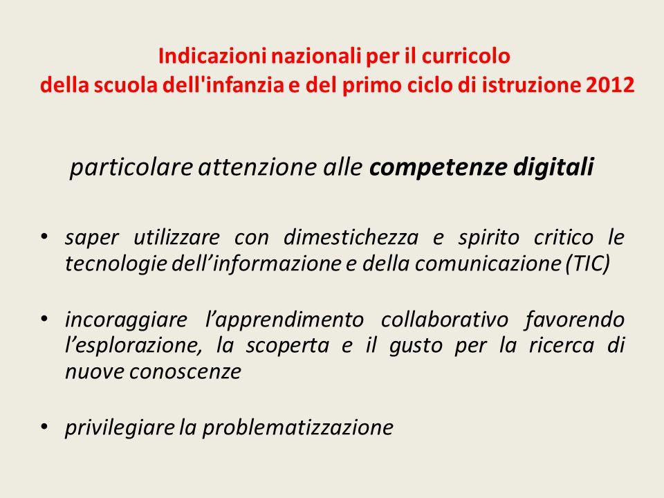 particolare attenzione alle competenze digitali