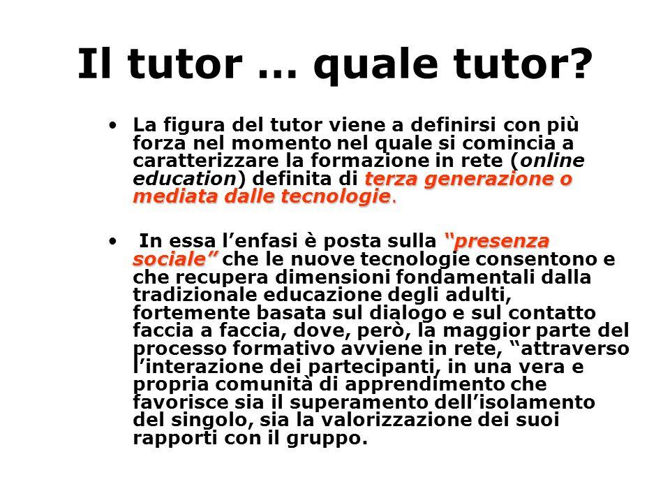 Il tutor … quale tutor