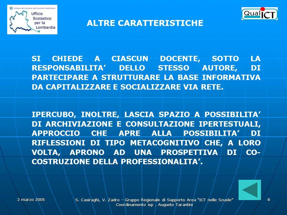 Coordinamento isp . Augusto Tarantini