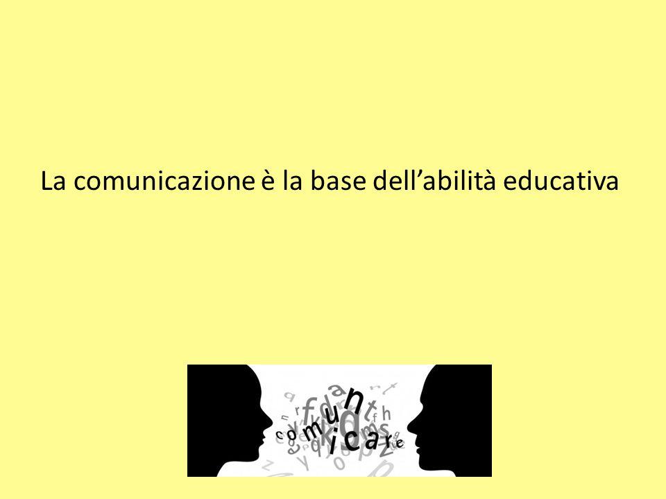 La comunicazione è la base dell'abilità educativa
