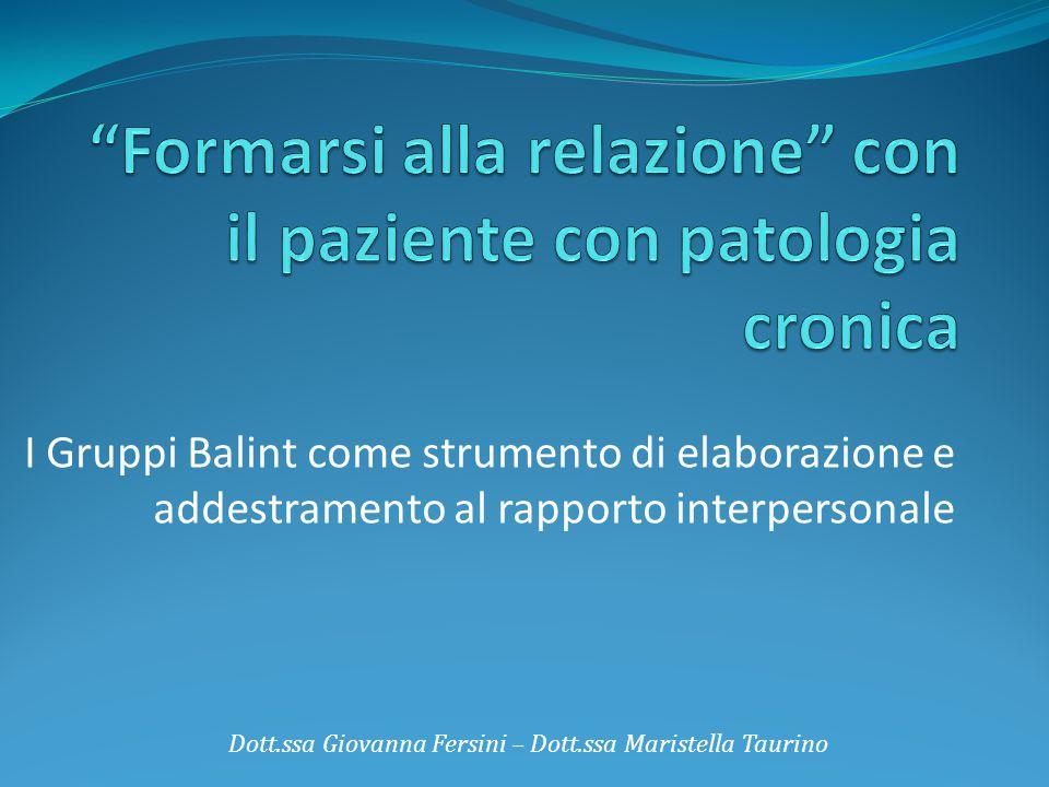 Formarsi alla relazione con il paziente con patologia cronica