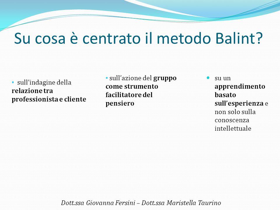 Su cosa è centrato il metodo Balint