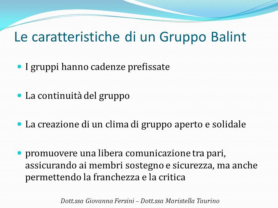 Le caratteristiche di un Gruppo Balint
