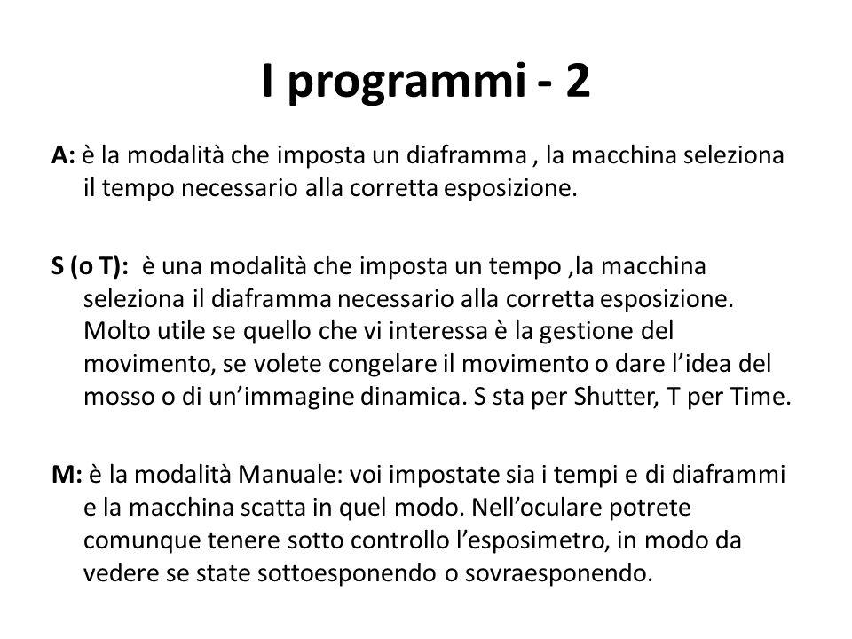 I programmi - 2