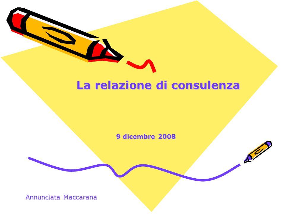 La relazione di consulenza