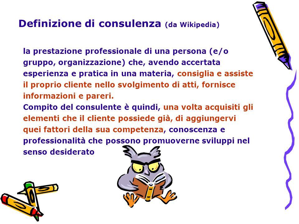 Definizione di consulenza (da Wikipedia)