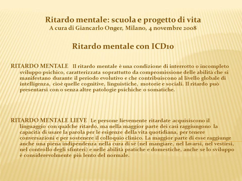 Ritardo mentale con ICD10