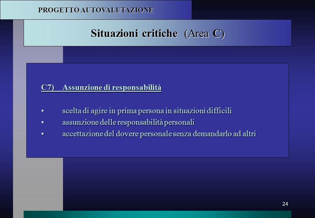 Situazioni critiche (Area C)