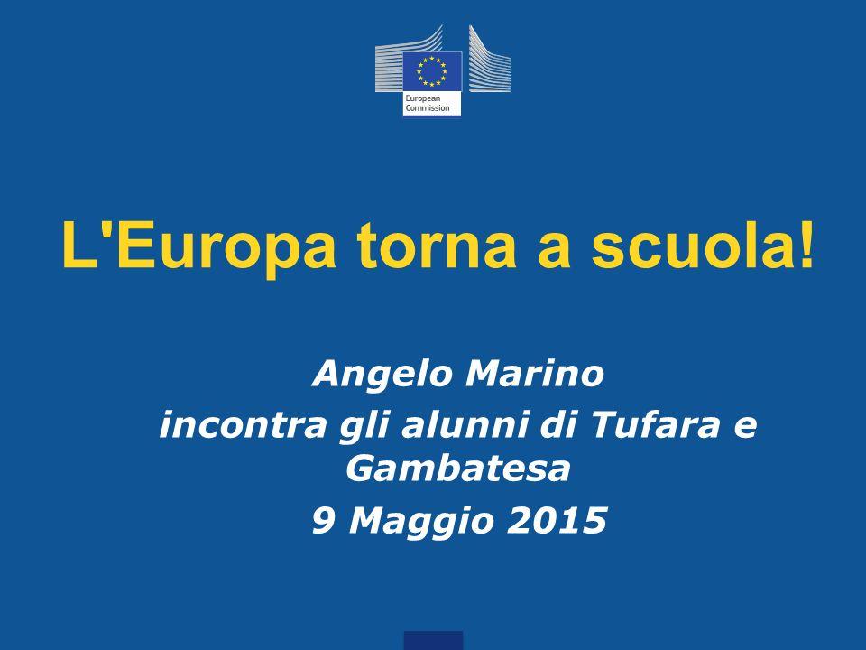 Angelo Marino incontra gli alunni di Tufara e Gambatesa 9 Maggio 2015