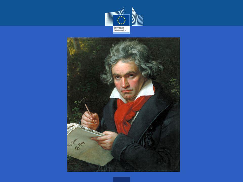 L'INNO EUROPEO: è il movimento finale della Nona Sinfonia di Ludwig van Beethoven, composta nel 1823, chiamato anche Inno alla Gioia .