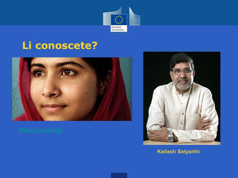 Li conoscete Malala Yousafzai Kailash Satyarthi
