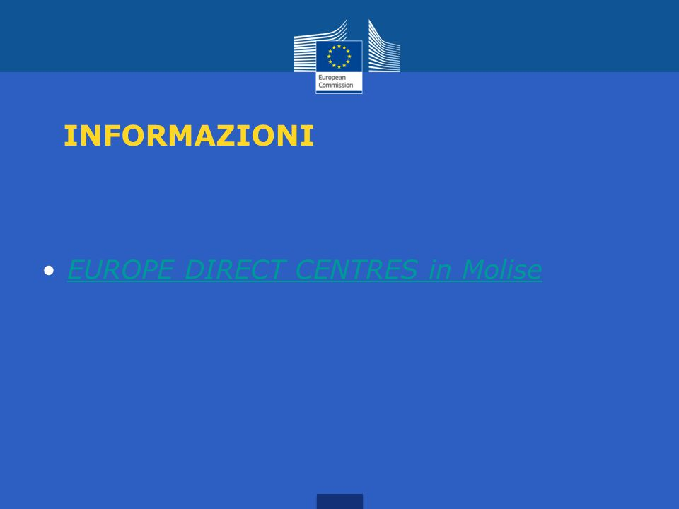 INFORMAZIONI EUROPE DIRECT CENTRES in Molise