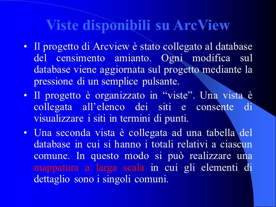 Viste disponibili su ArcView