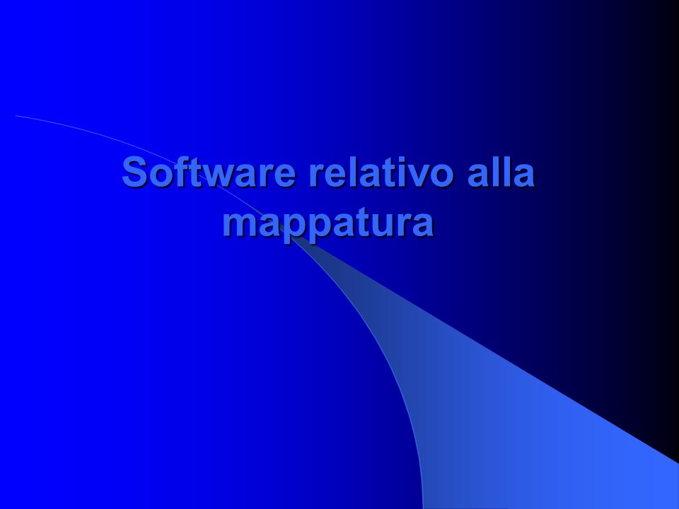 Software relativo alla mappatura