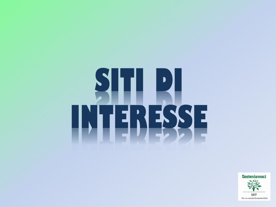 SITI DI INTERESSE