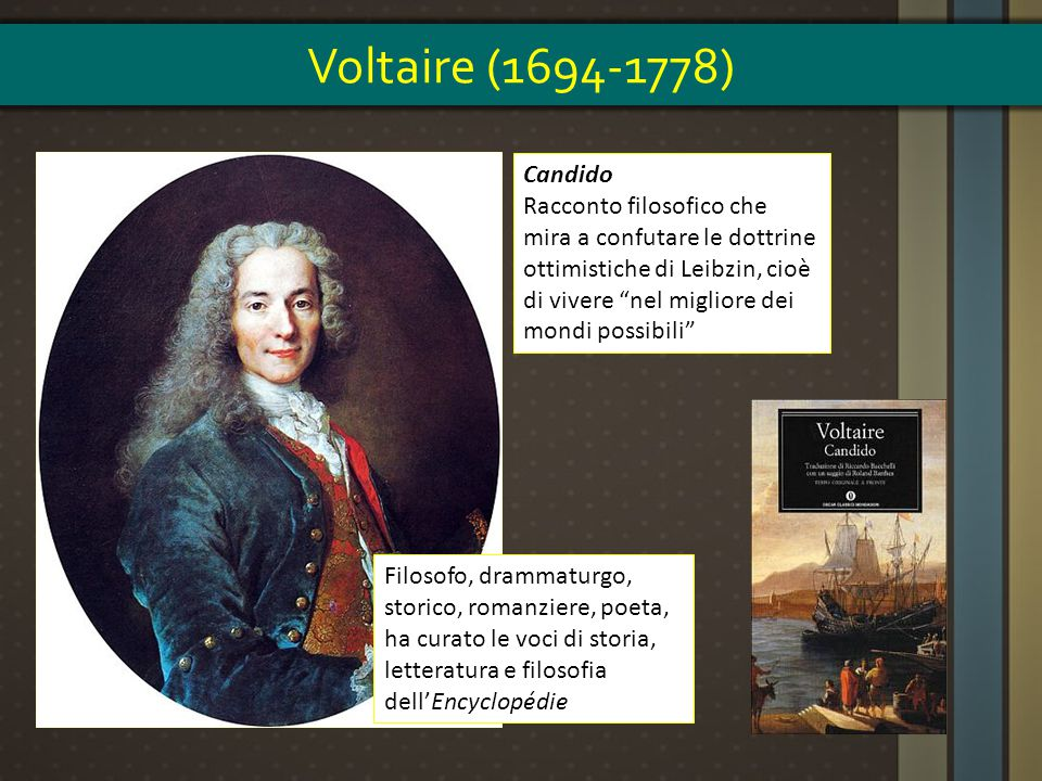 Voltaire (1694-1778) Candido.