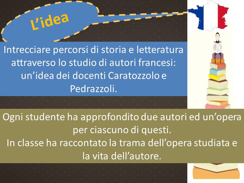 un'idea dei docenti Caratozzolo e Pedrazzoli.
