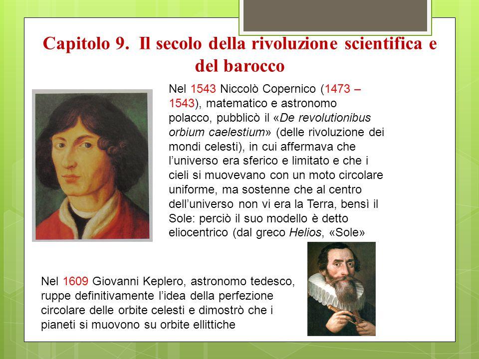 Capitolo 9. Il secolo della rivoluzione scientifica e del barocco