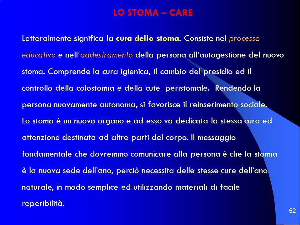 LO STOMA – CARE