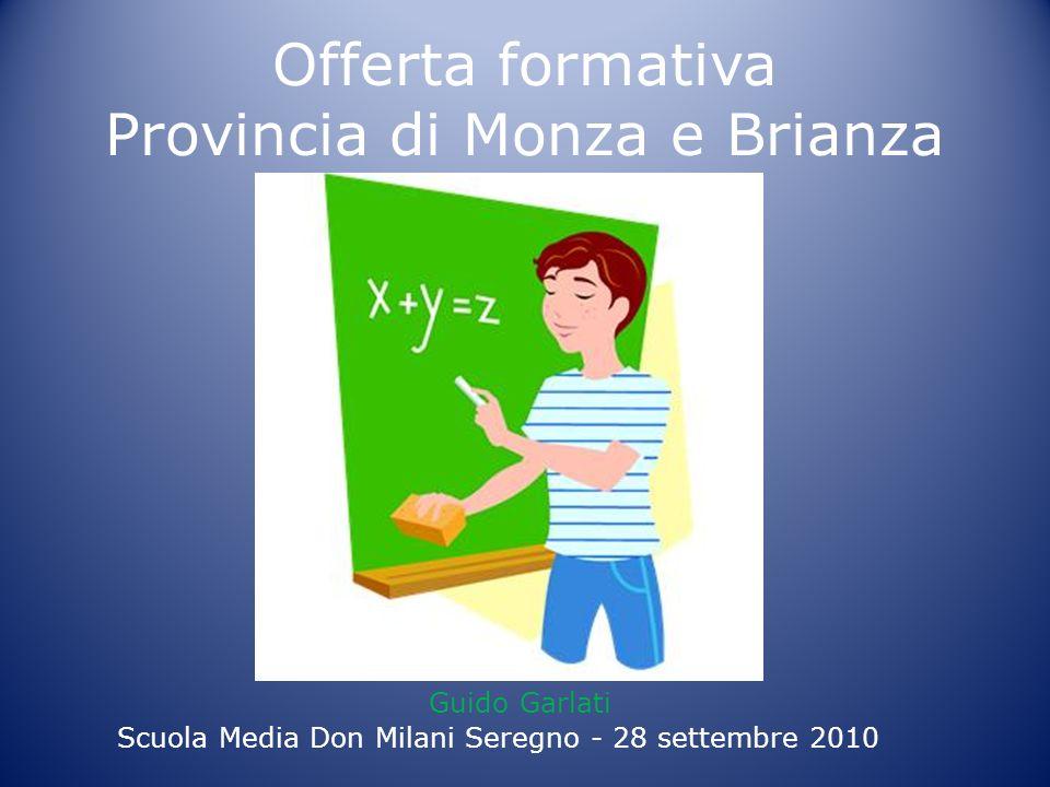 Offerta formativa Provincia di Monza e Brianza