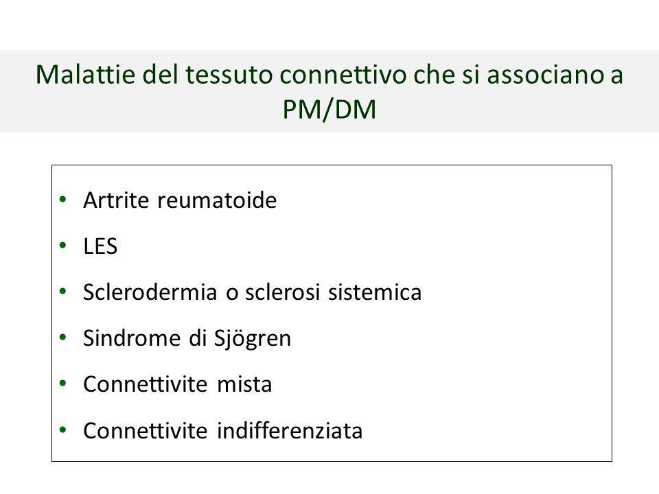 Malattie del tessuto connettivo che si associano a PM/DM