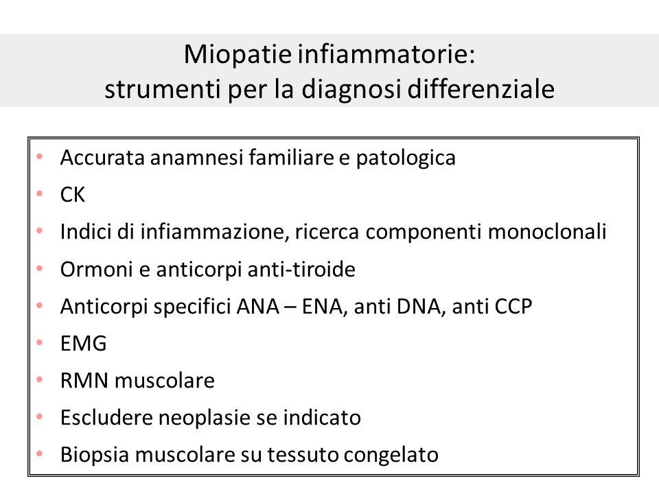 Miopatie infiammatorie: strumenti per la diagnosi differenziale