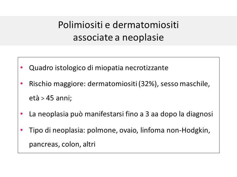 Polimiositi e dermatomiositi associate a neoplasie