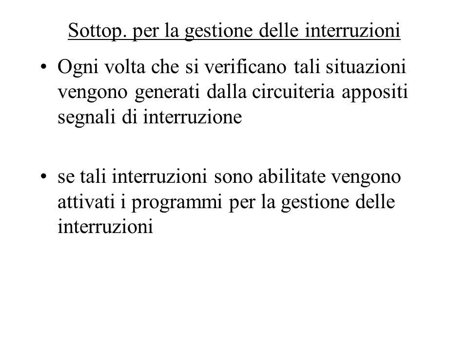 Sottop. per la gestione delle interruzioni