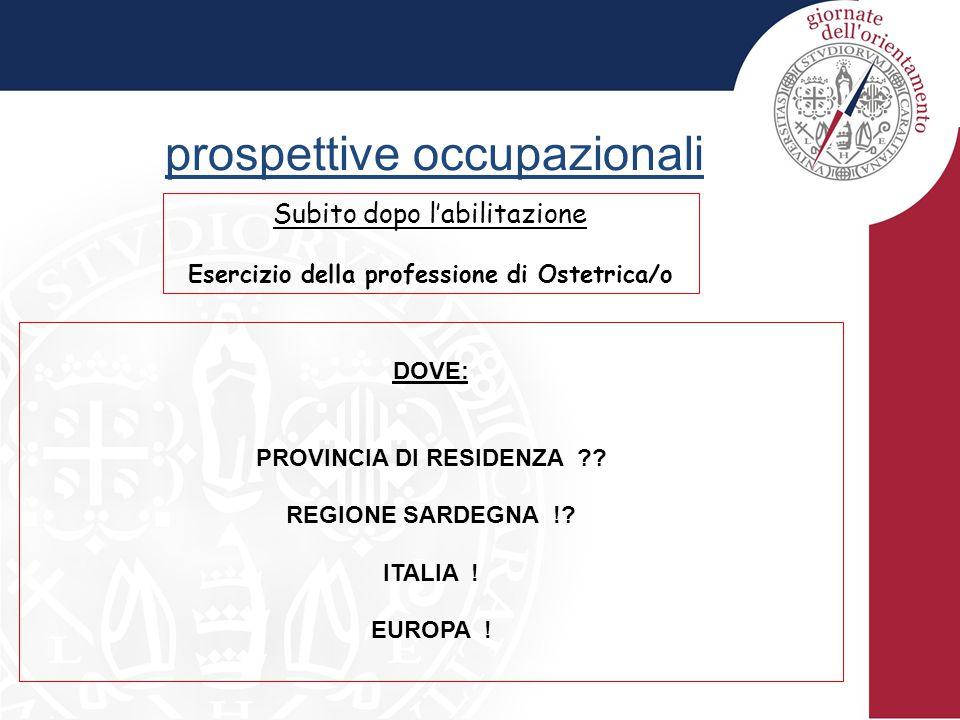 Esercizio della professione di Ostetrica/o PROVINCIA DI RESIDENZA