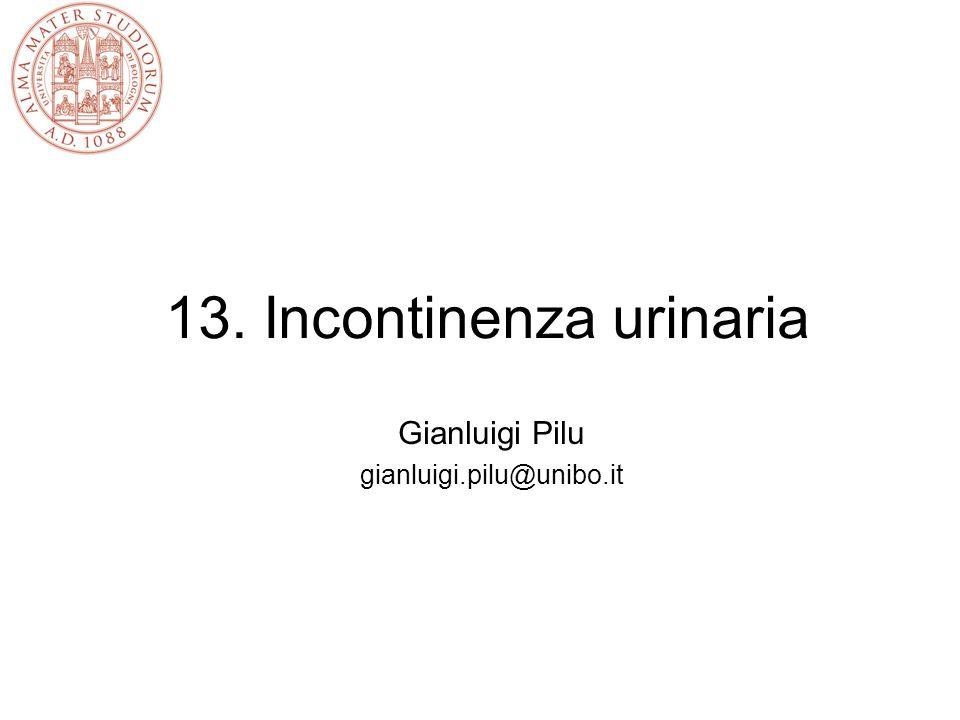 13. Incontinenza urinaria