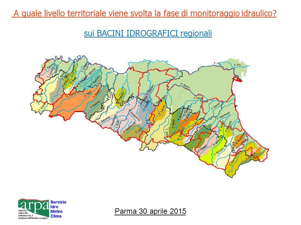 sui BACINI IDROGRAFICI regionali