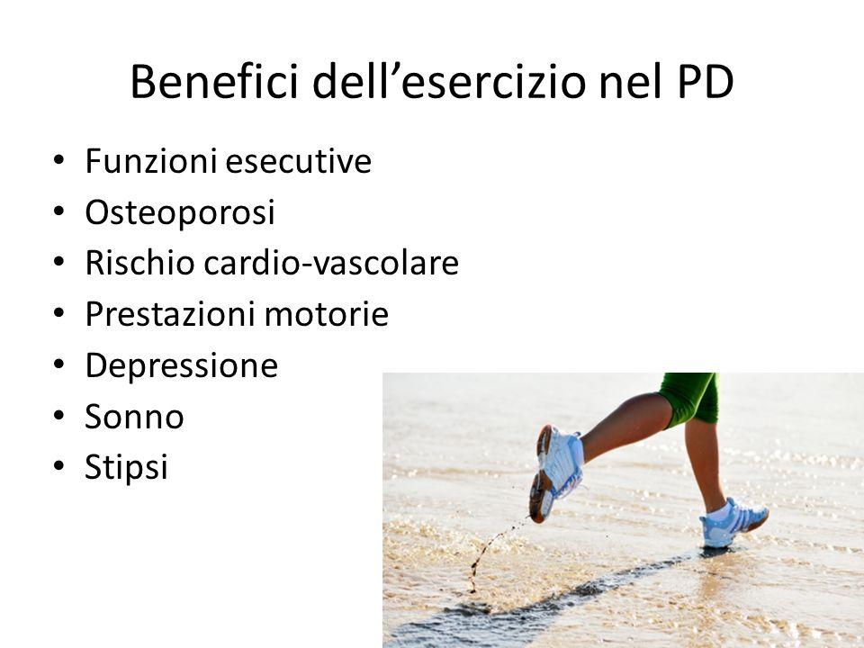 Benefici dell'esercizio nel PD