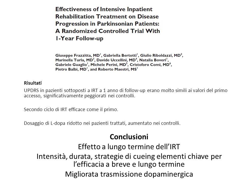Effetto a lungo termine dell'IRT