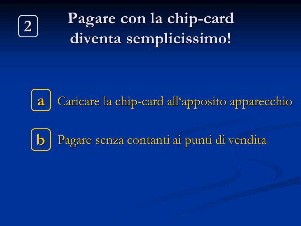 Pagare con la chip-card diventa semplicissimo!