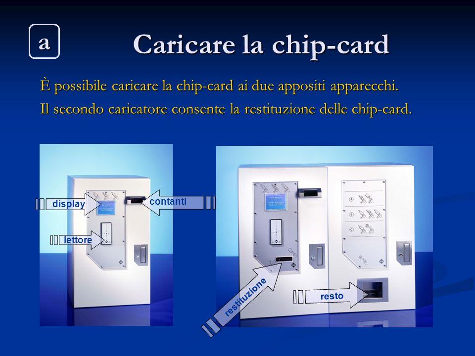 Caricare la chip-card a