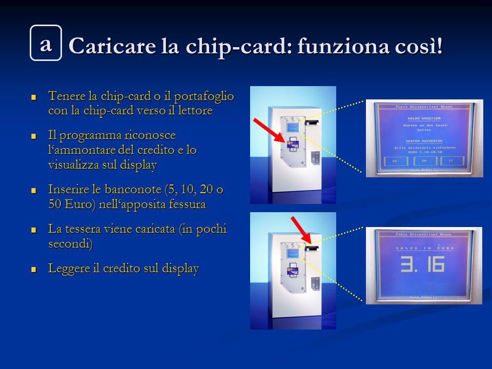 Caricare la chip-card: funziona così!