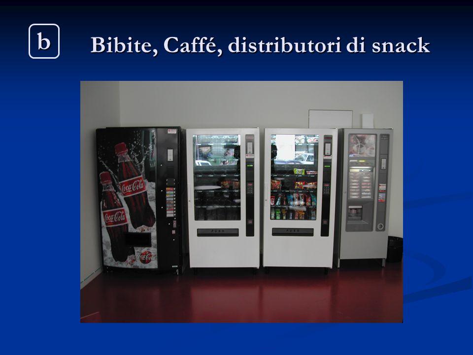 Bibite, Caffé, distributori di snack