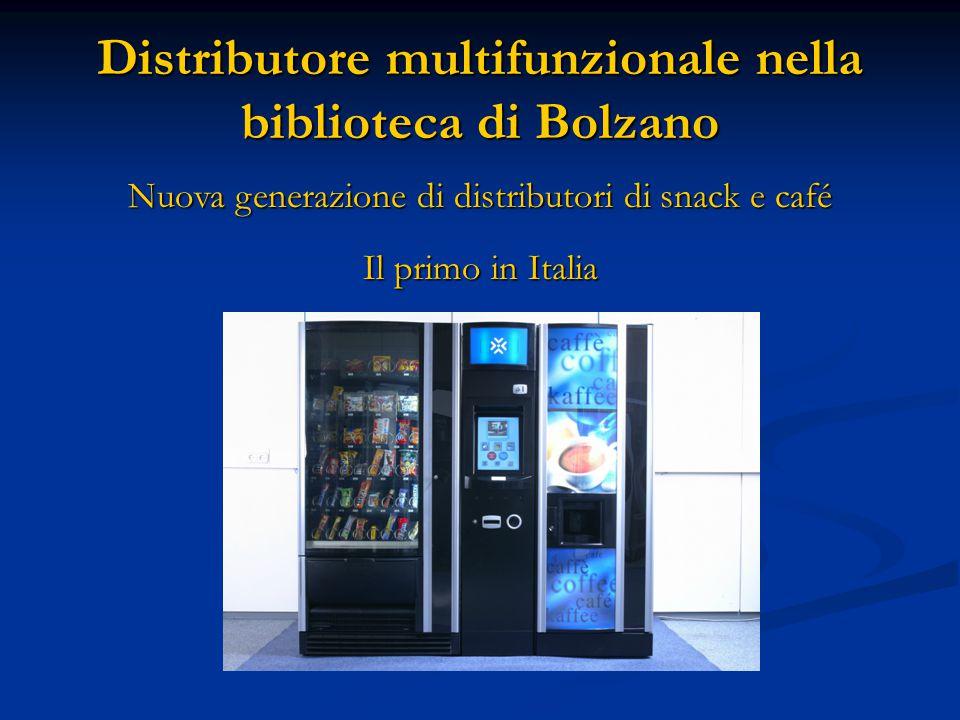 Distributore multifunzionale nella biblioteca di Bolzano