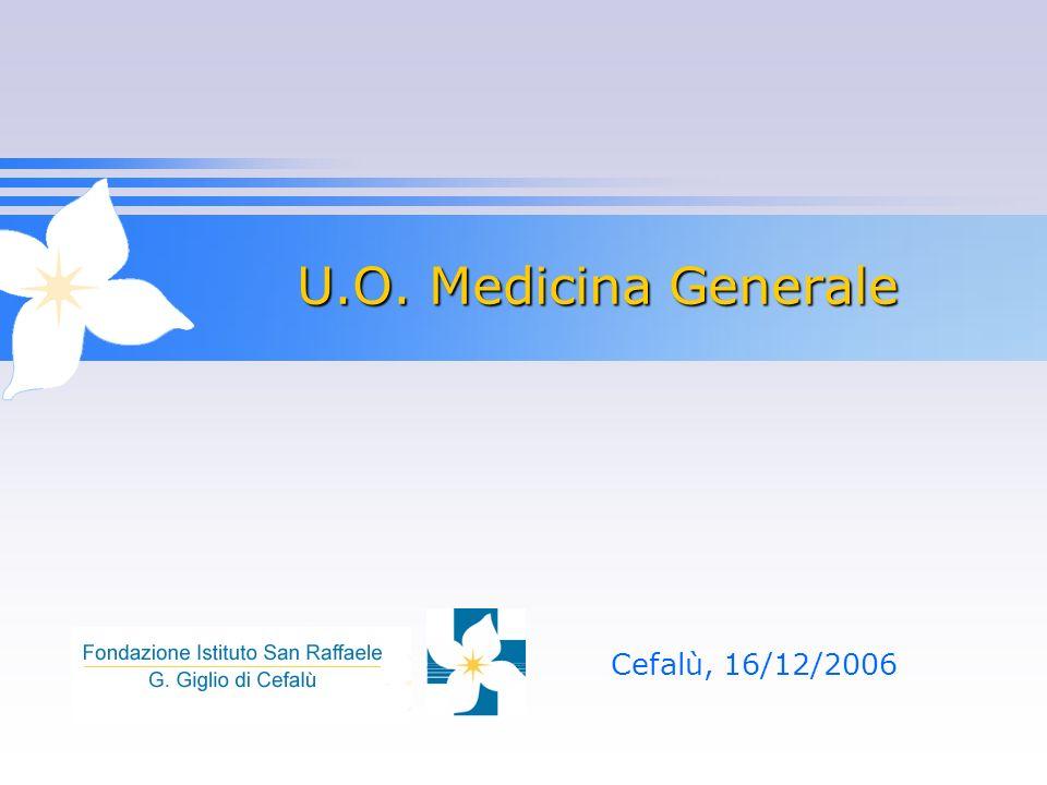 U.O. Medicina Generale Cefalù, 16/12/2006