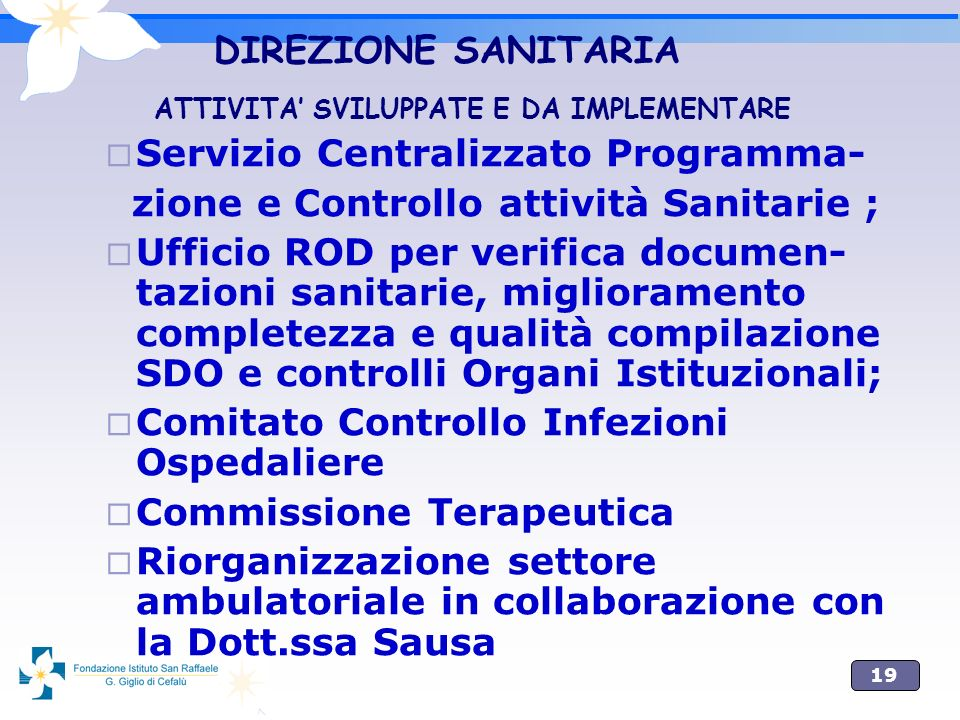 Servizio Centralizzato Programma-