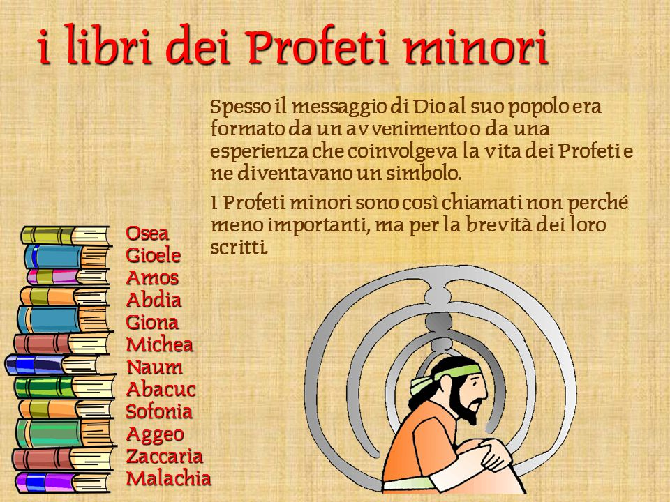 i libri dei Profeti minori