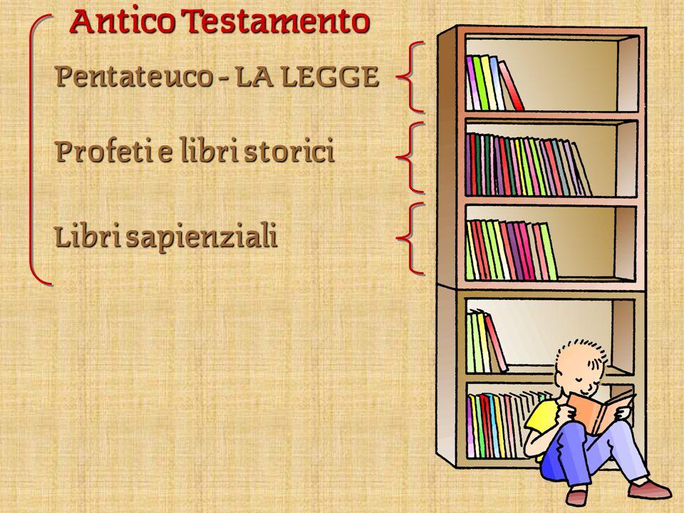 Antico Testamento Pentateuco – LA LEGGE Profeti e libri storici