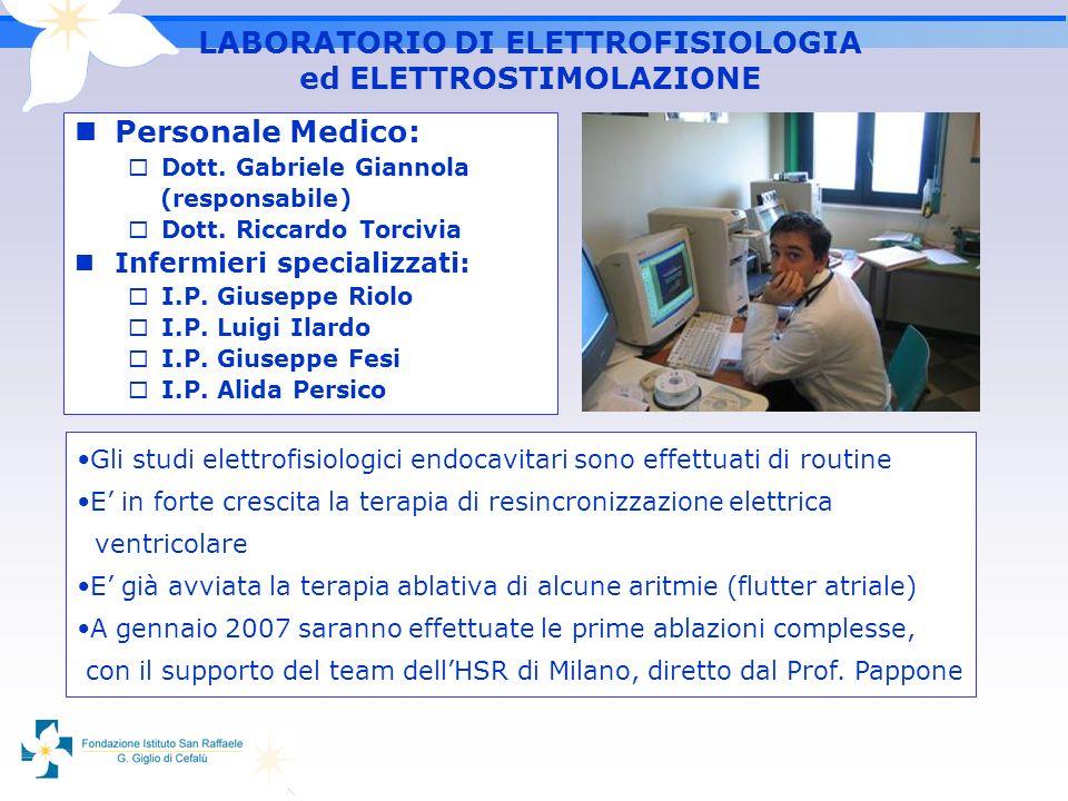 LABORATORIO DI ELETTROFISIOLOGIA ed ELETTROSTIMOLAZIONE
