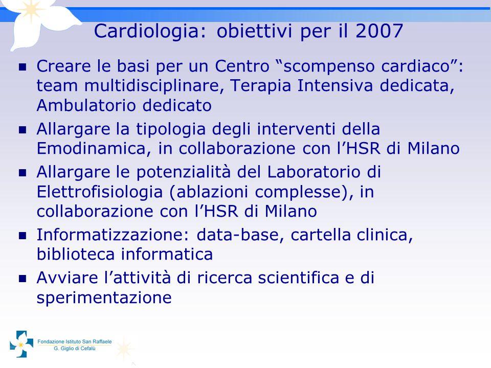 Cardiologia: obiettivi per il 2007