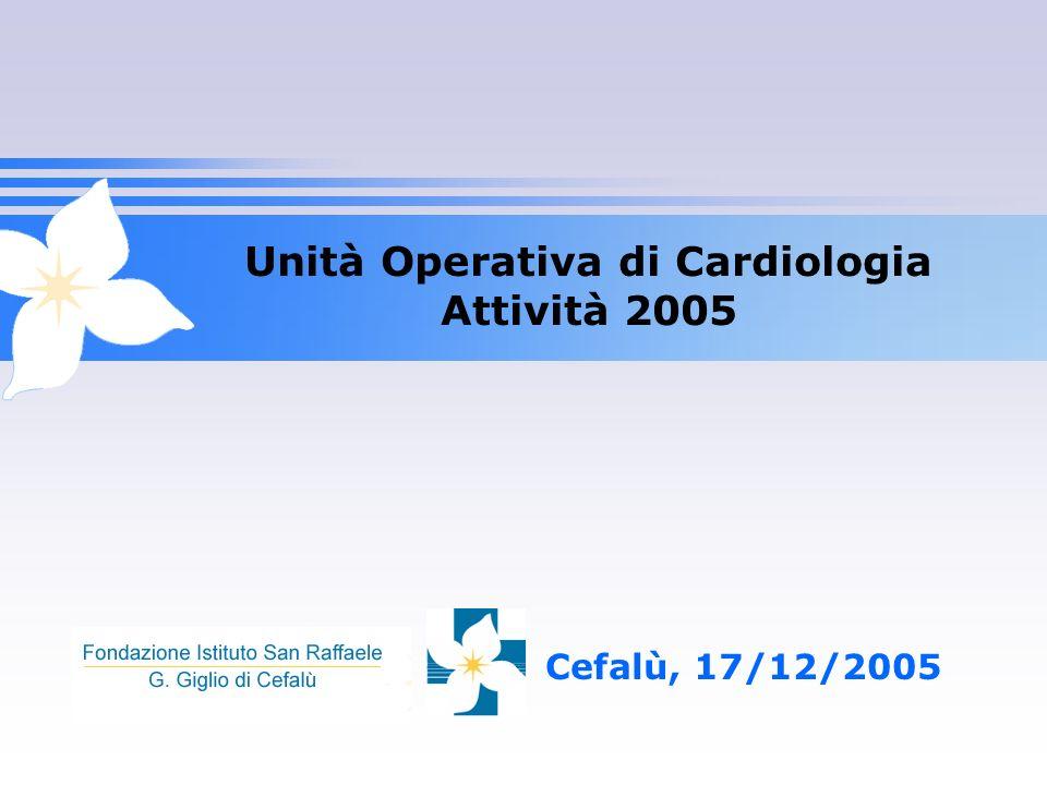 Unità Operativa di Cardiologia Attività 2005