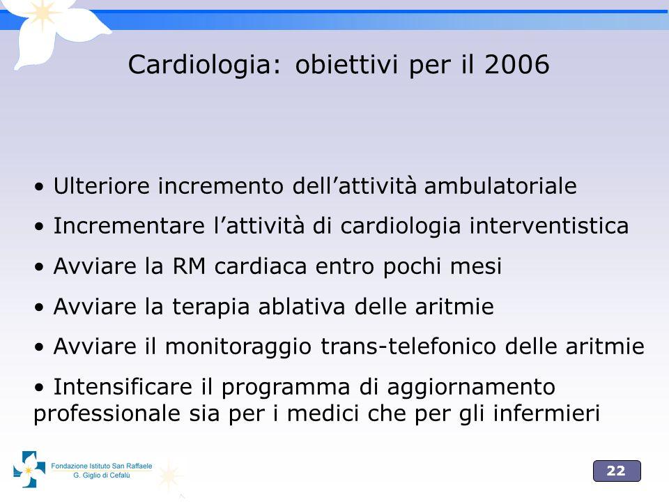 Cardiologia: obiettivi per il 2006