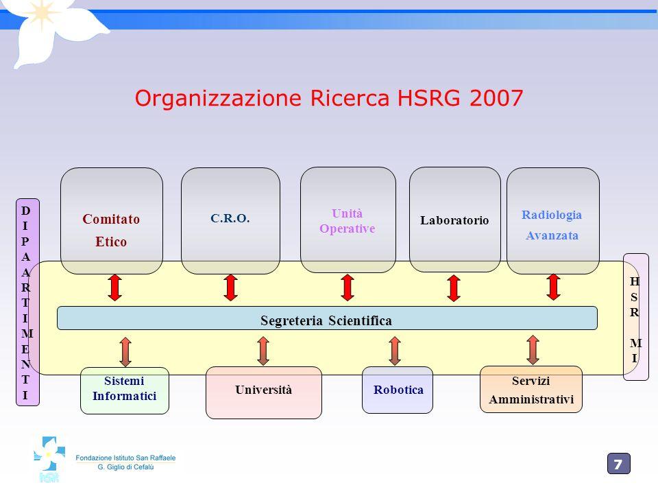 Organizzazione Ricerca HSRG 2007