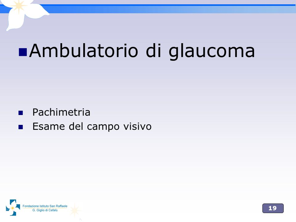 Ambulatorio di glaucoma