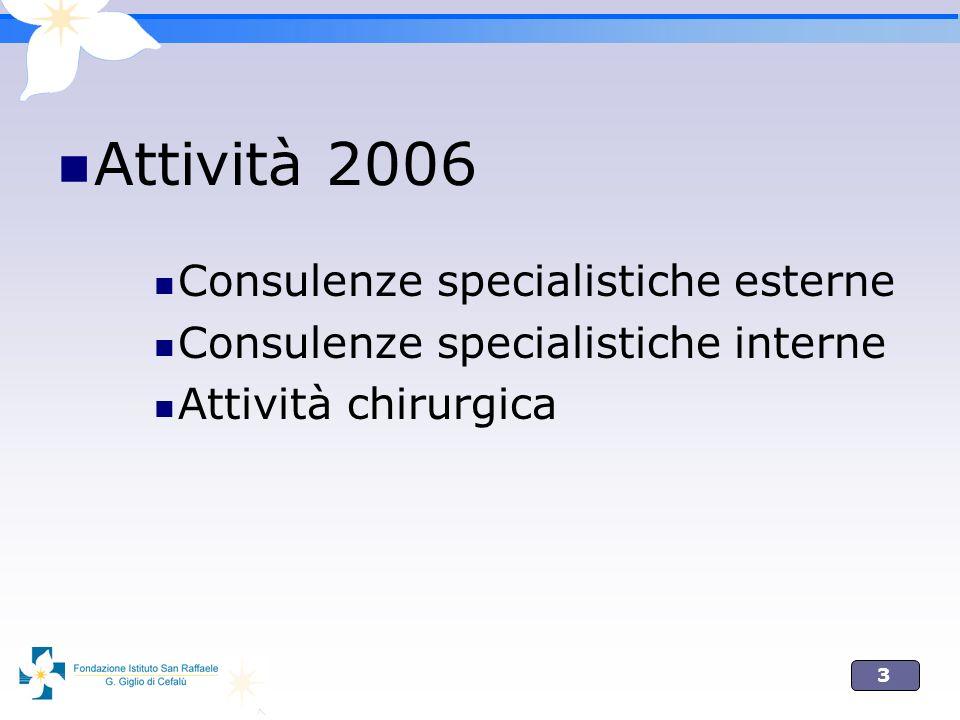 Attività 2006 Consulenze specialistiche esterne
