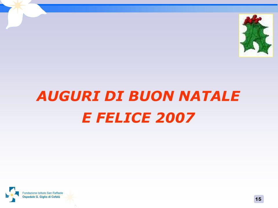 AUGURI DI BUON NATALE E FELICE 2007